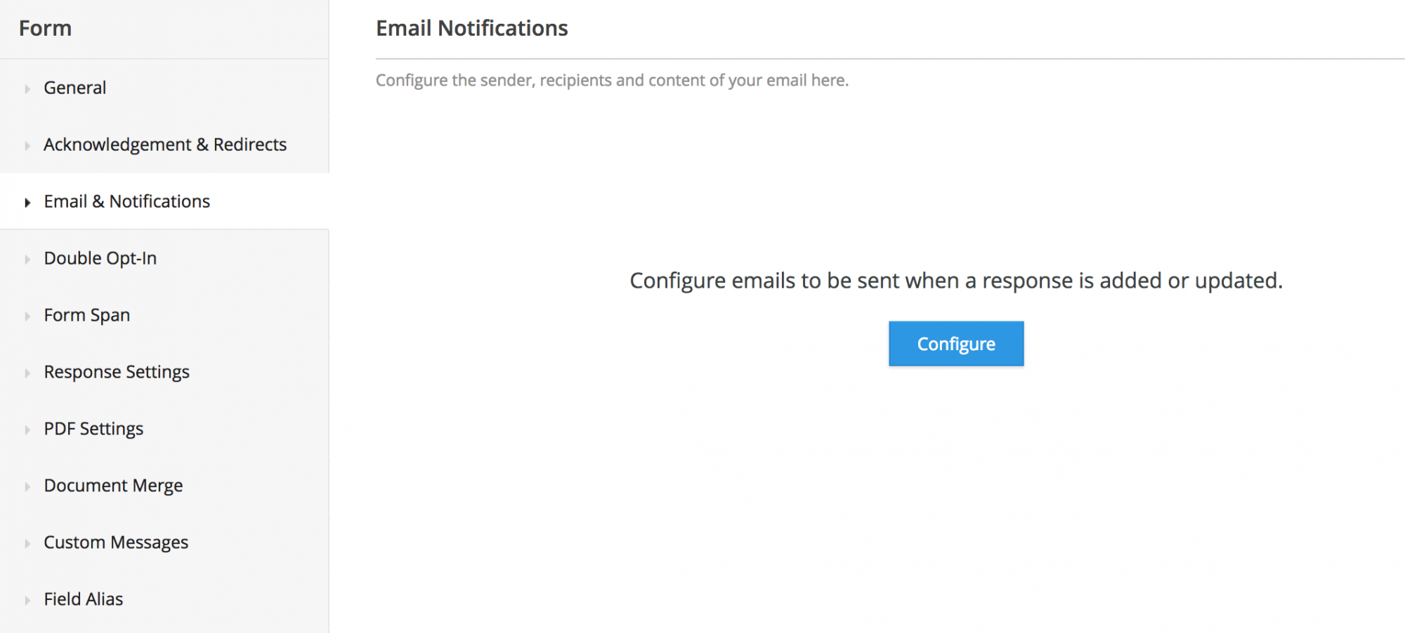 Email Notifications Zoho Forms User Guide