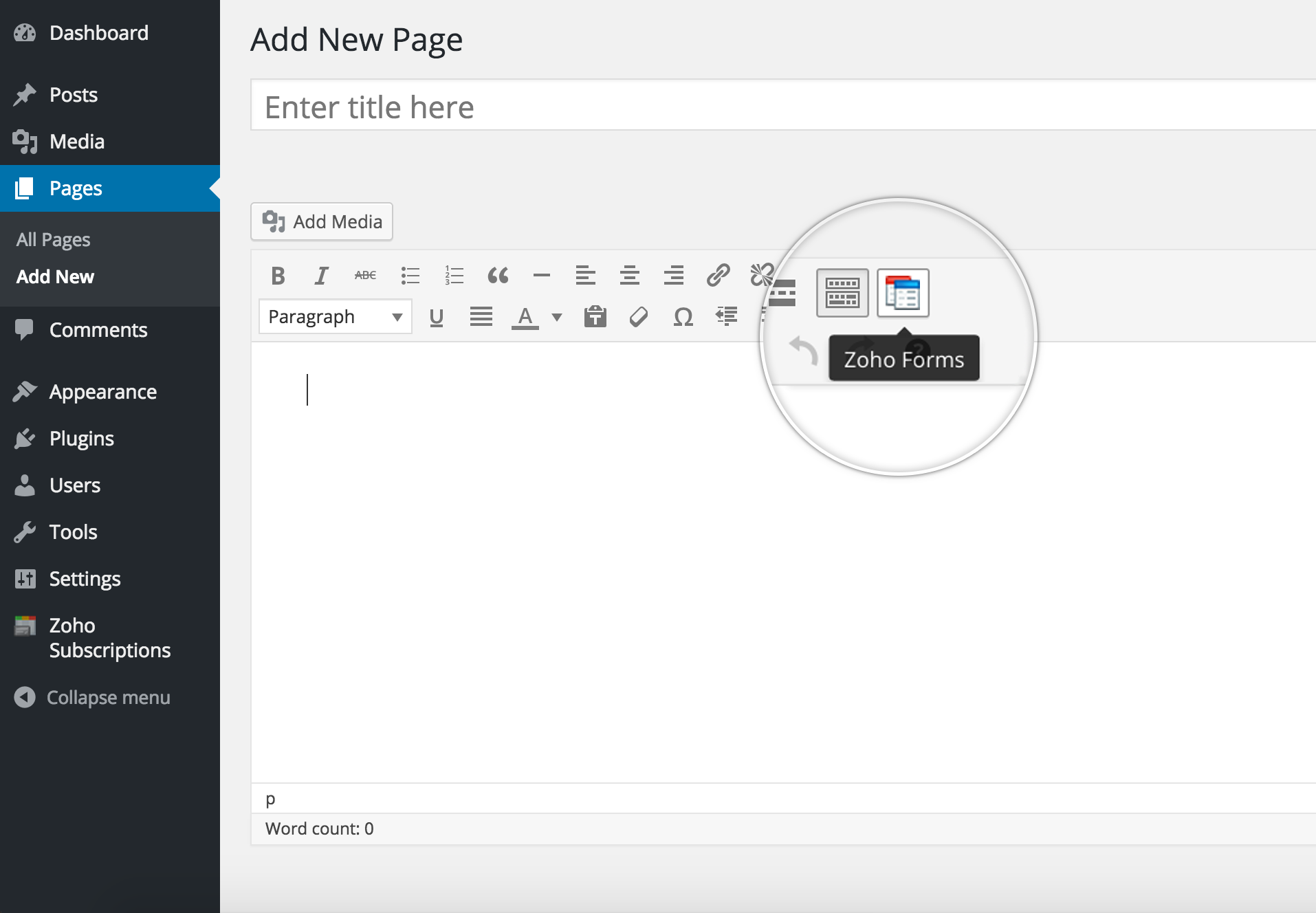 WordPress plugin | Zoho Forms - User Guide