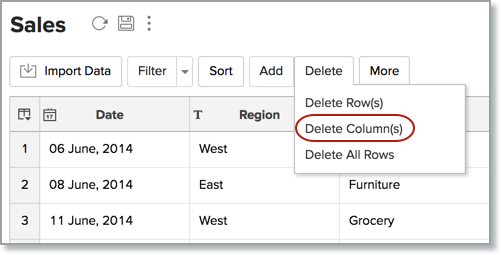 Add Rows and Columns l Zoho Analytics Help