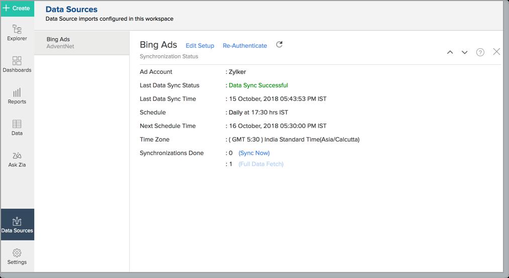 Bing Ads Insight Analytics l Zoho Analytics Help