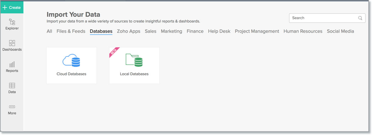 Import Data from Oracle l Zoho Analytics Help