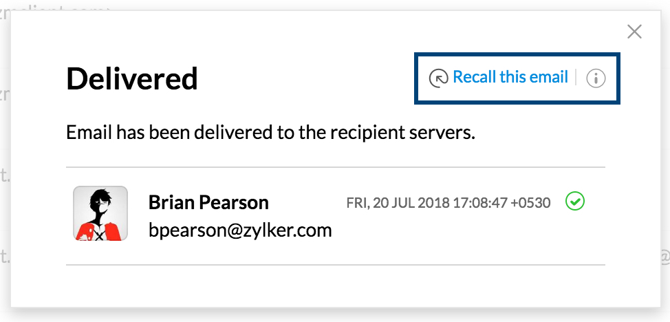 How To Recall An Email >> Recall Sent Emails In Zoho Mail
