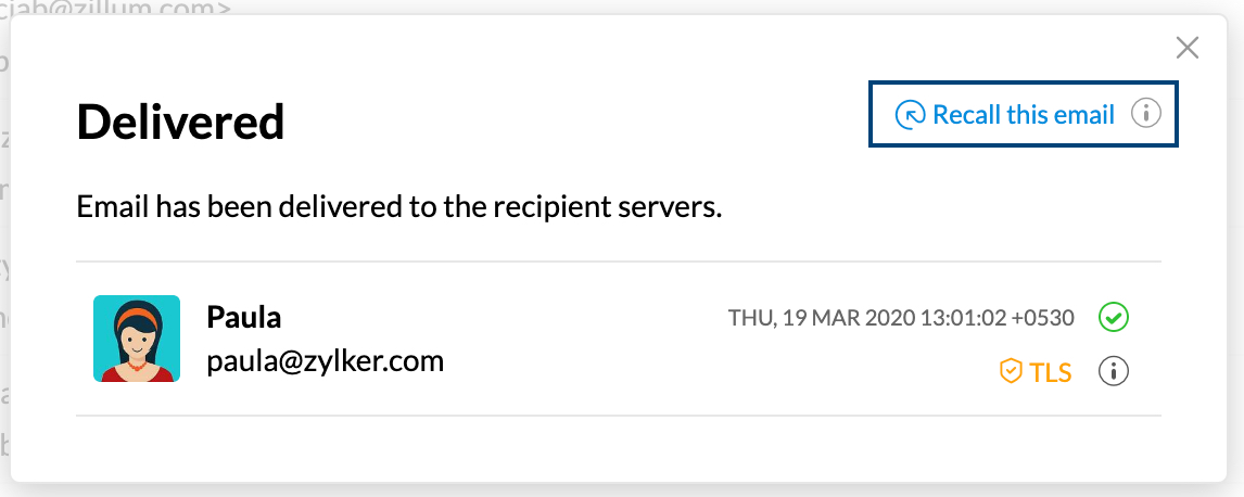 Recall Sent Emails in Zoho Mail