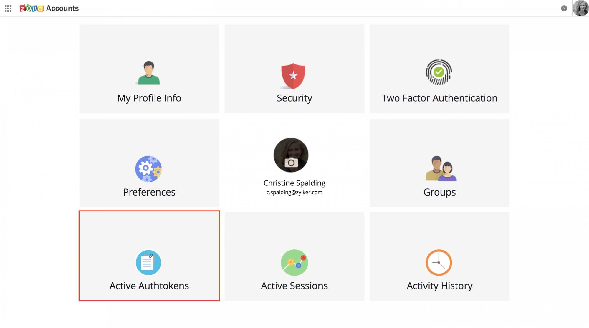Auth token | Zoho People API