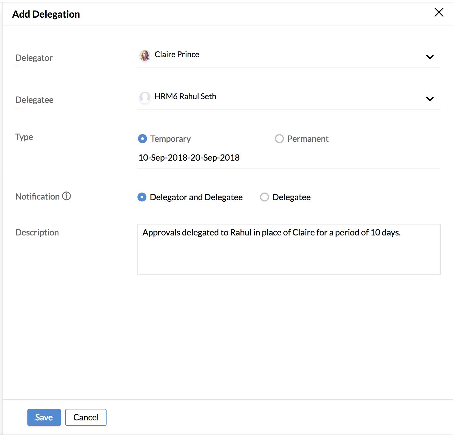Organization settings | Zoho People