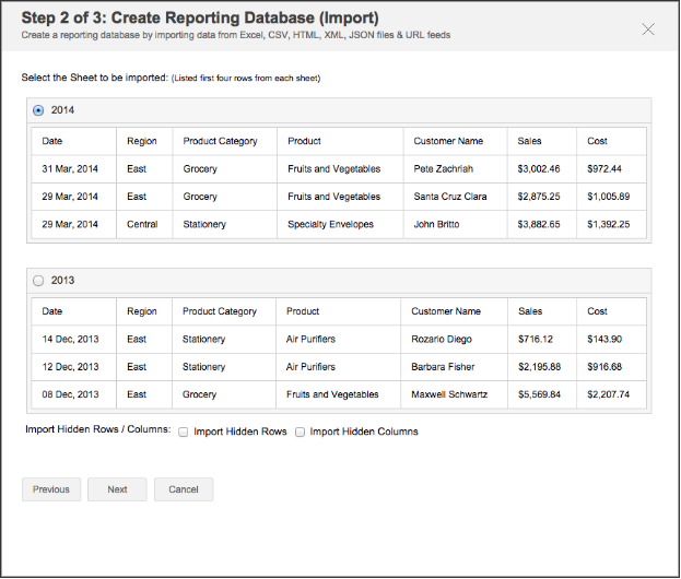 Importing data from files and feeds - Analytics Plus
