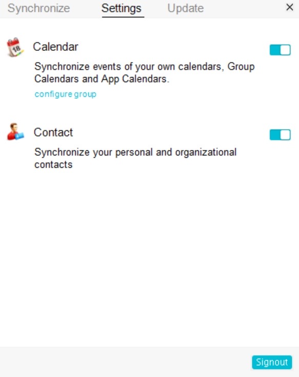 Outlook Plug-in sync for Zoho Calendar