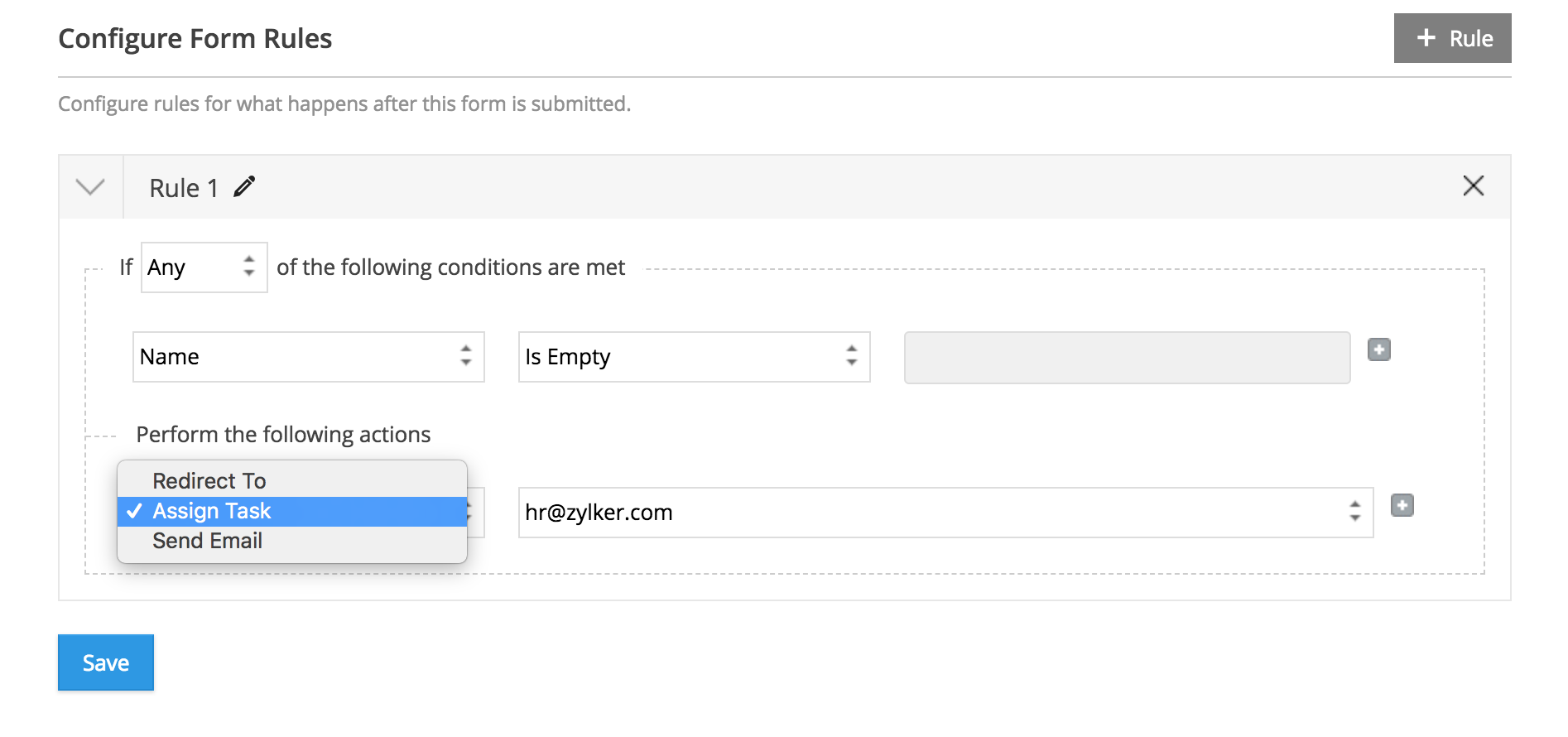 Conditional Rules   Zoho Forms - User Guide