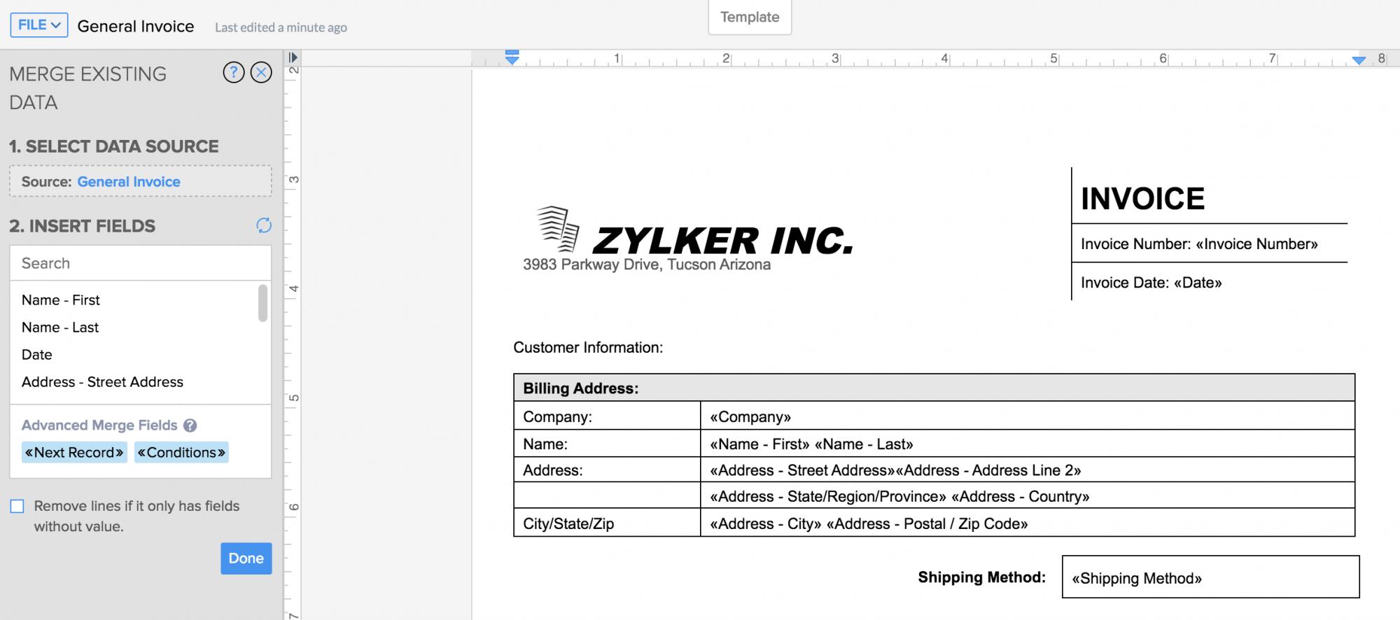 Document Merge using Zoho Writer   Zoho Forms - User Guide