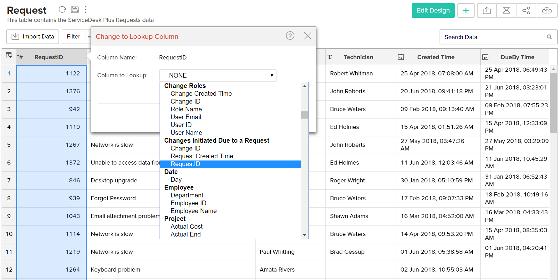 Working with tables - Analytics Plus