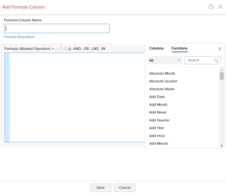 Add formulas - Analytics Plus