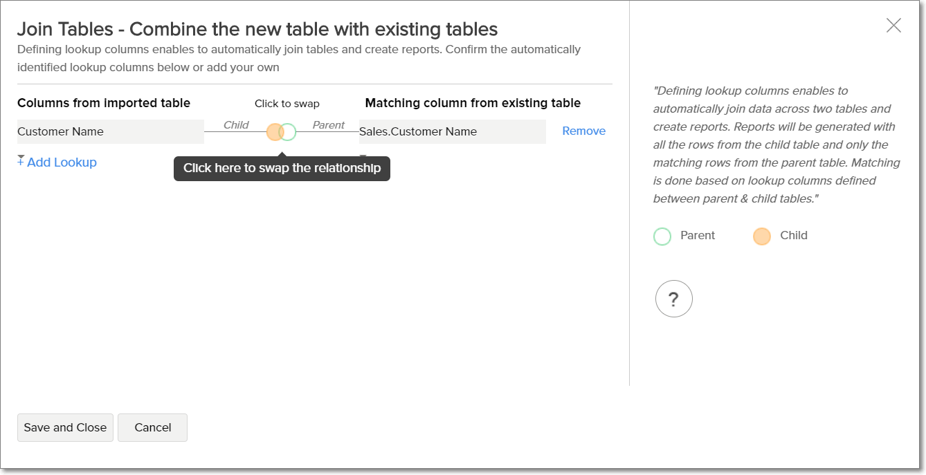 Joining tables - Analytics Plus