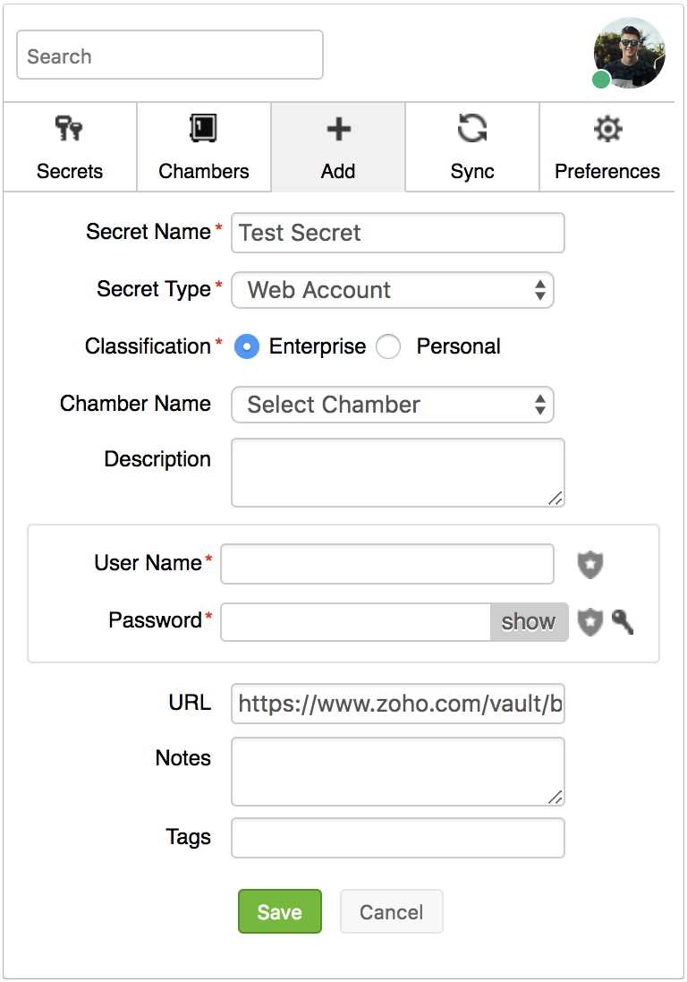 Zoho Vault - Synchronize Passwords Through Browser Extension