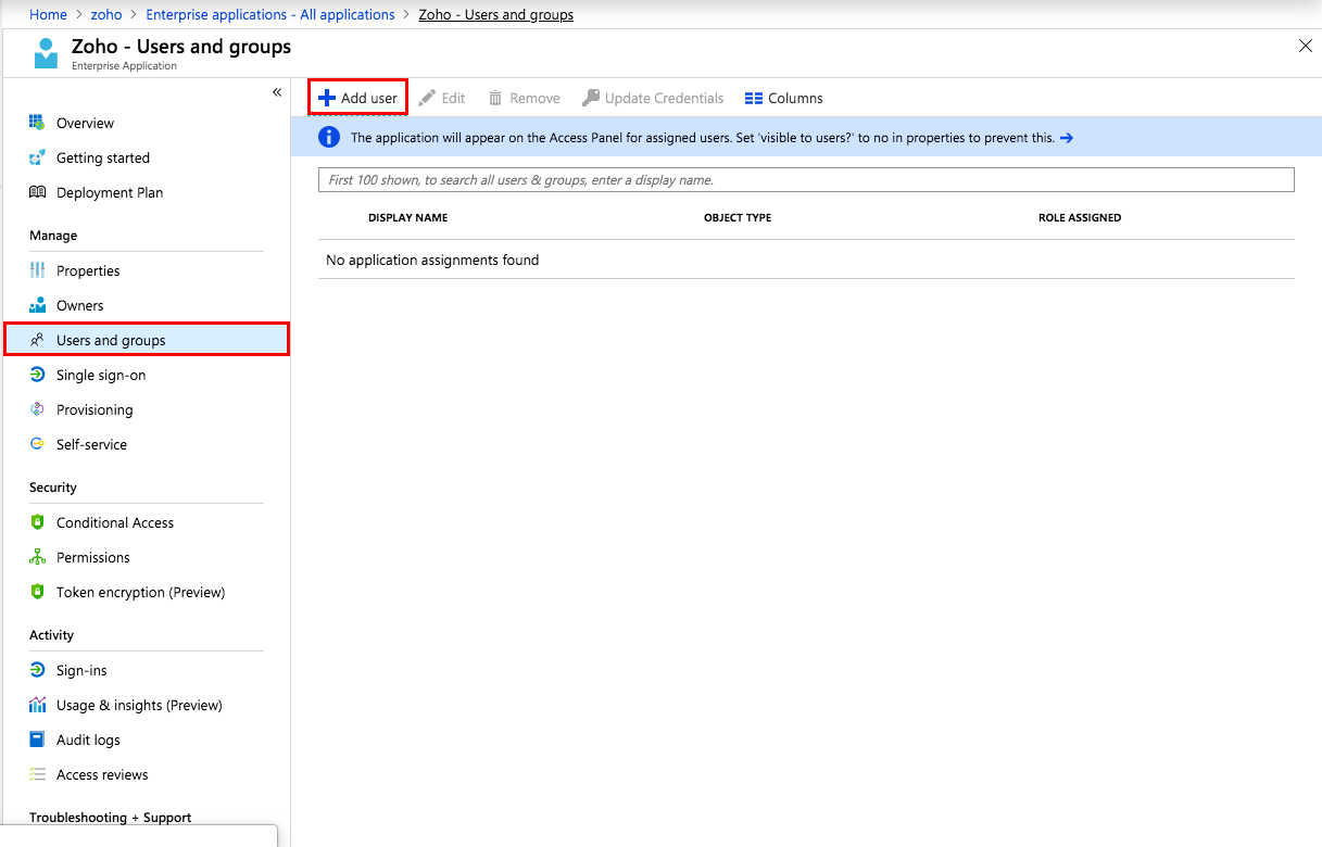 Azure AD integration with Zoho Vault