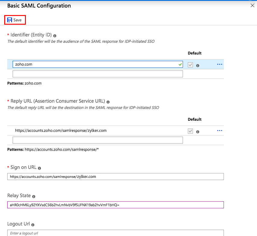 Azure AD integration with Zoho Vault