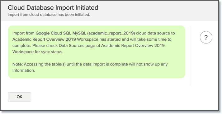 Import Data from Google Cloud SQL MySQL l Zoho Analytics Help