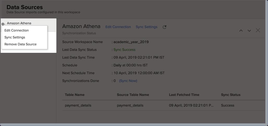 Import Data from Amazon Athena l Zoho Analytics Help