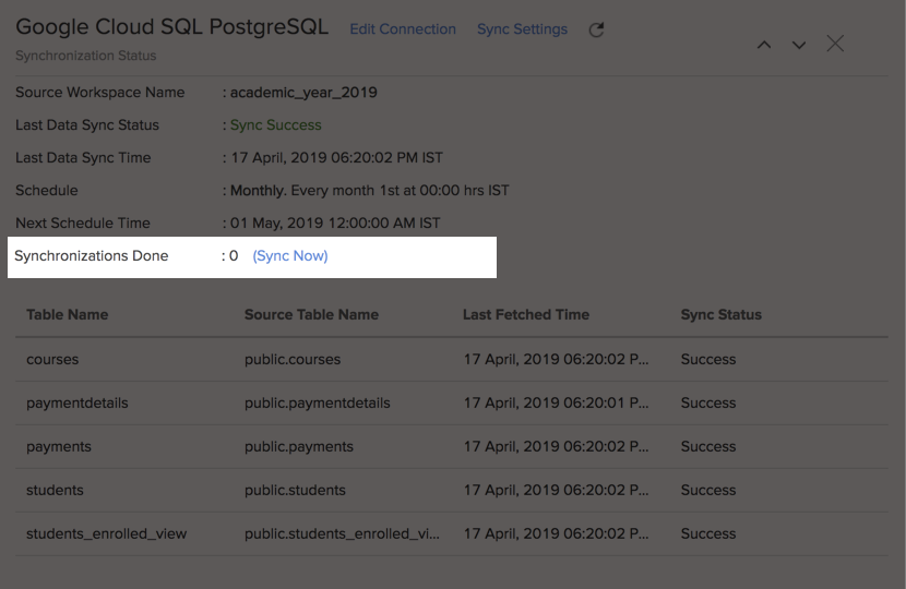 Import Data from Google Cloud SQL PostgreSQL l Zoho Analytics Help
