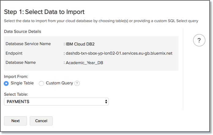 Import Data from IBM Cloud l Zoho Analytics Help