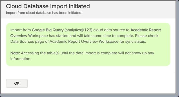 Import Data from Google BigQuery l Zoho Analytics Help