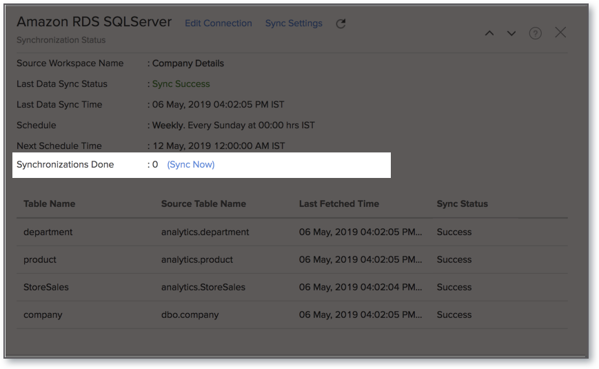 Import data from Amazon RDS: SQL Server