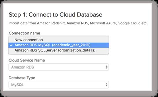 Import Data from Amazon RDS MySQL l Zoho Analytics Help