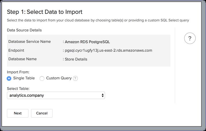 Amazon RDS: PostgreSQL l Zoho Analytics Help