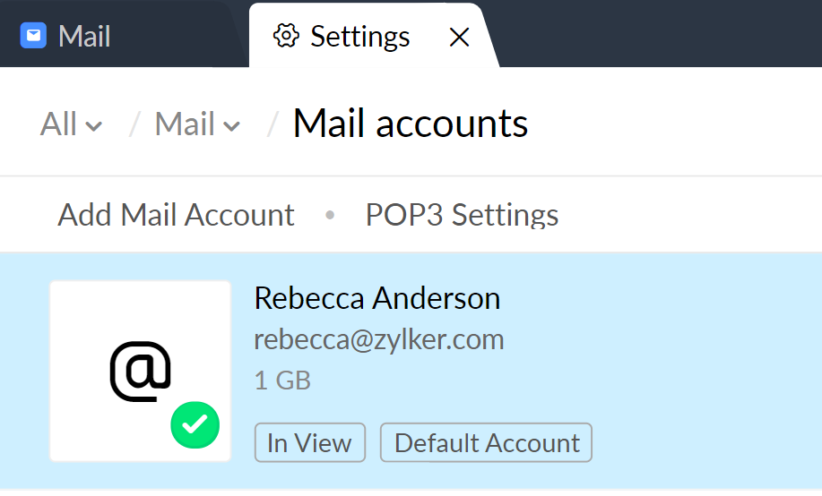 choosing a mail account