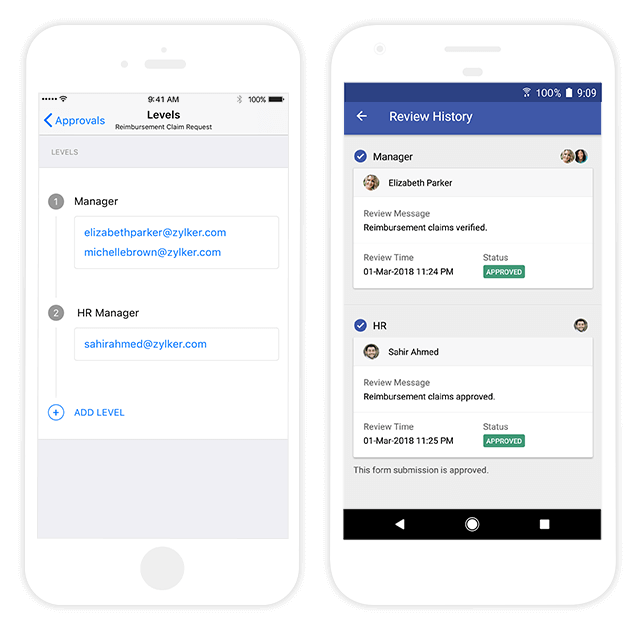 Forms Workflow Approval on Mobile