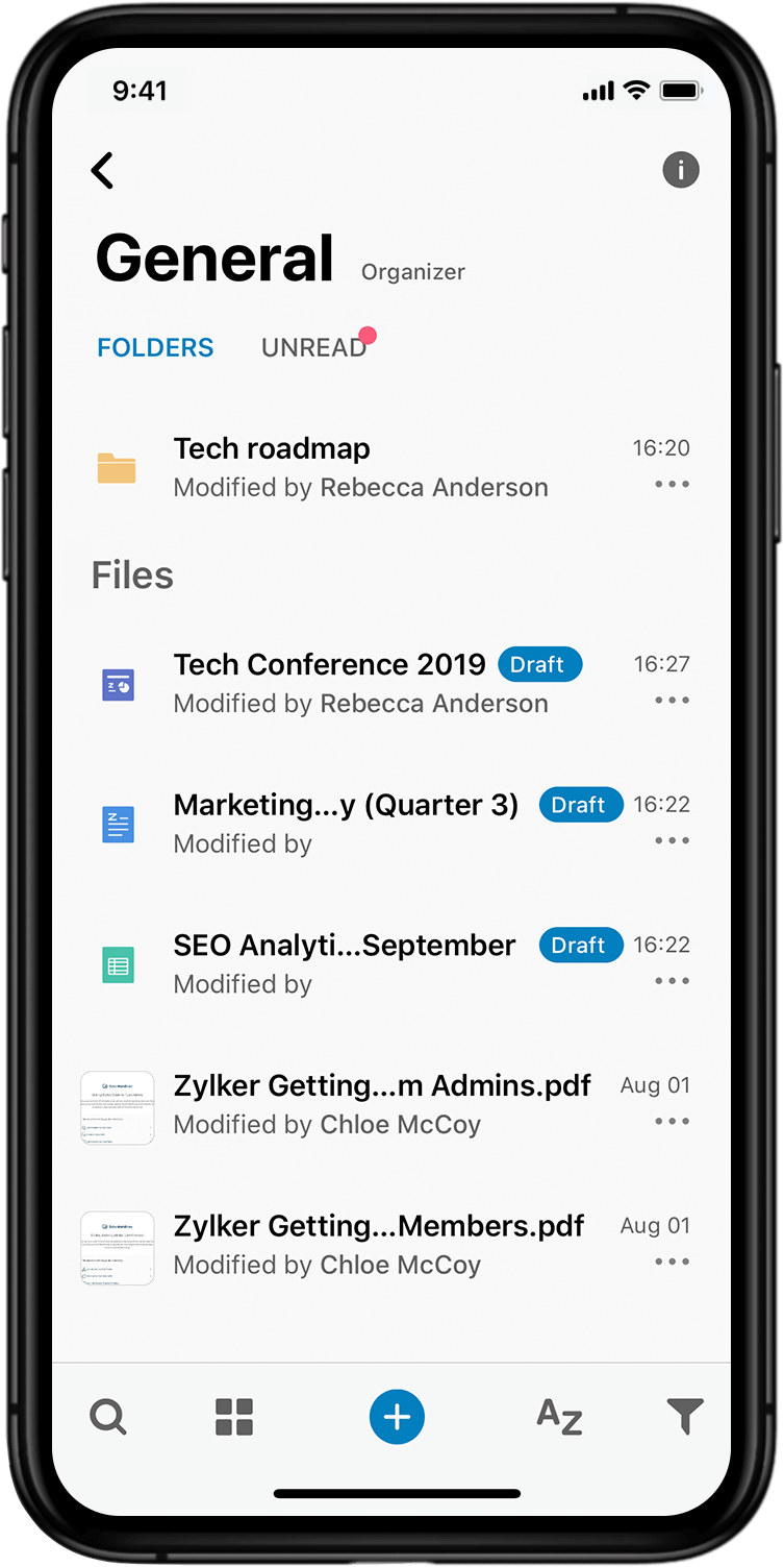 Your productivity suite, in your pocket