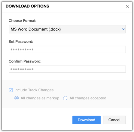 Uploading and Downloading documents