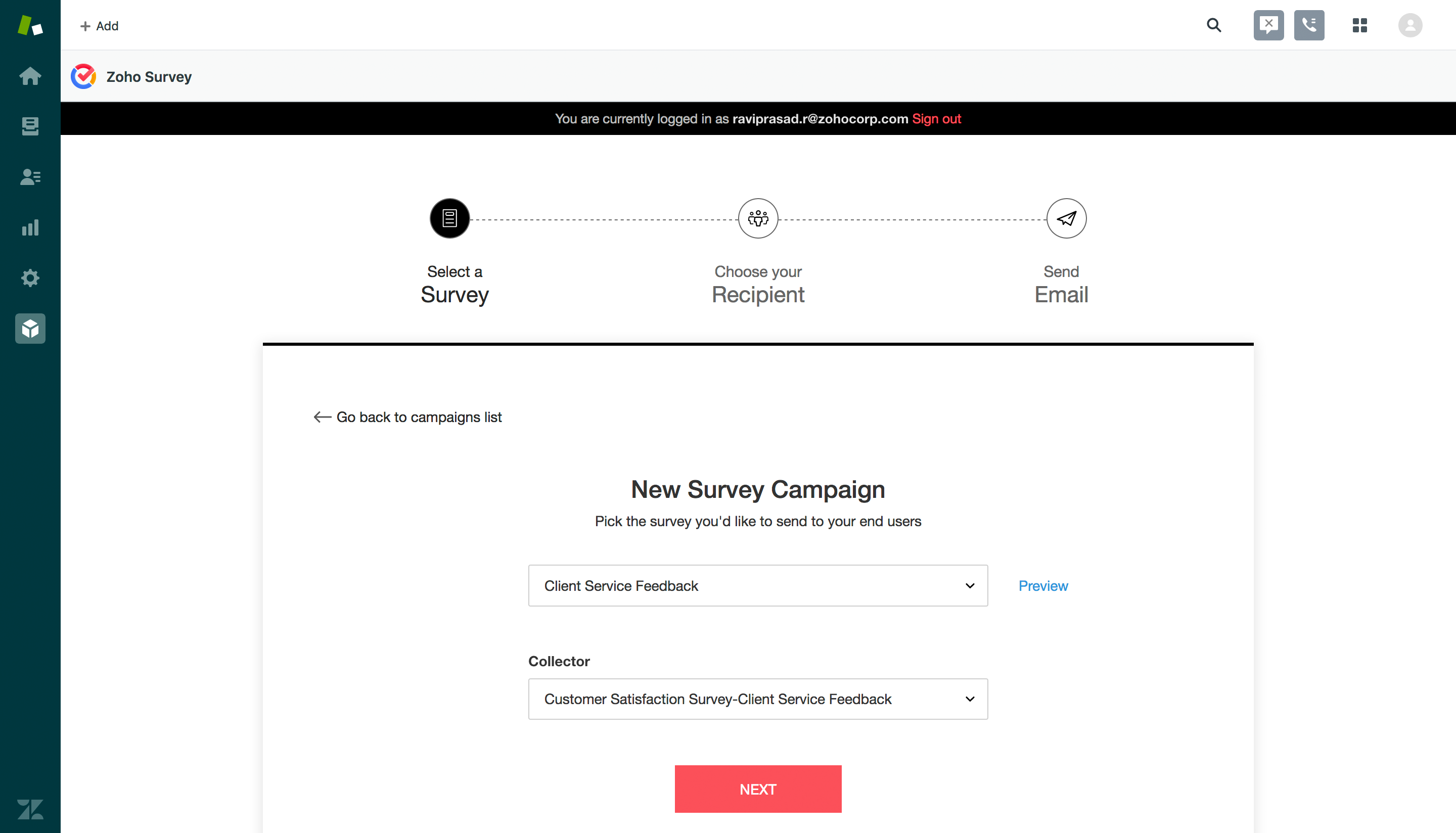 Integrate Zoho Survey with Other Apps you Use