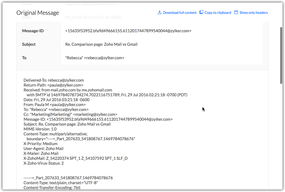 best authentic 206fe df289 To view detailed HTML source of the email, click Show Full Content option.