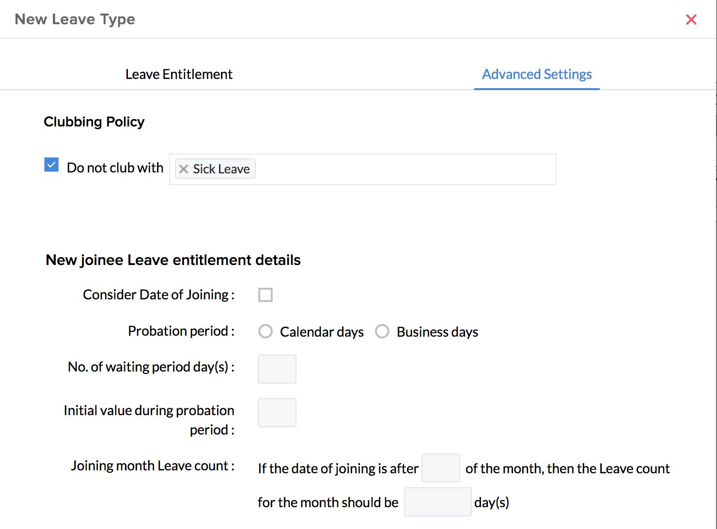 Configuring Leave Policies